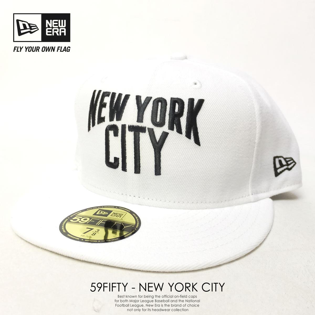 cfc4c69700f NEW ERA ニューエラ ベースボールキャップ 59FIFTY NEW YORK CITY ホワイト×ブラック 70349958 7V2099