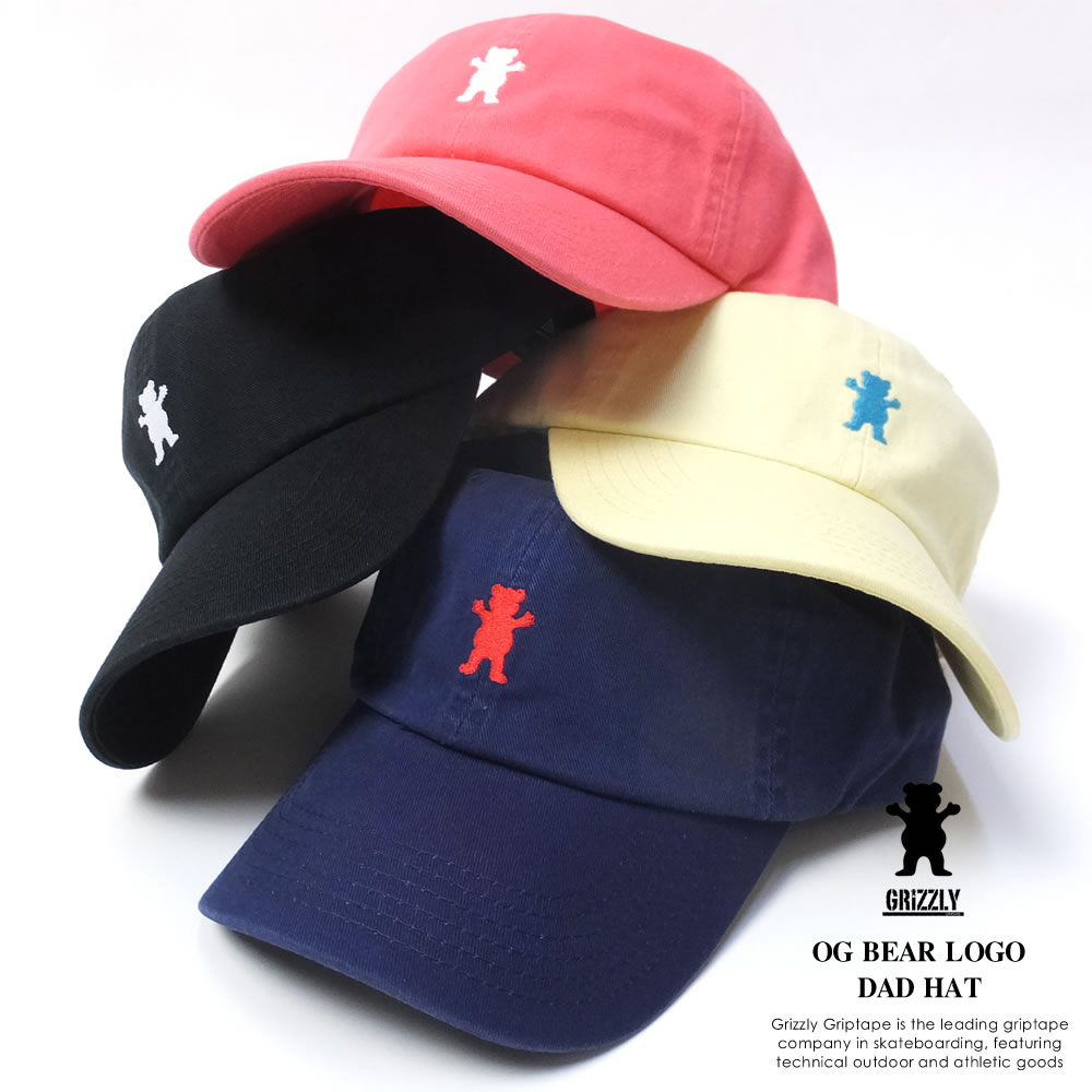 ... black  buy cheap ec342 08c9e GRIZZLY グリズリー カーブバイザーキャップ メンズ OG BEAR LOGO  DAD HAT ... 813ba779ce29